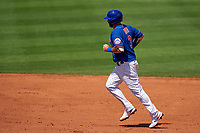 New York Mets Tomás Nido (3) rounds the bases after hitting a home run during a Major League Spring Training game against the St. Louis Cardinals on March 19, 2021 at Clover Park in St. Lucie, Florida.  (Mike Janes/Four Seam Images)