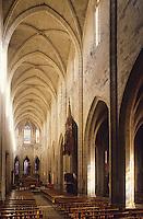 France/15/Cantal/Saint FLour: Cathédrale St Pierre - Détail Nef