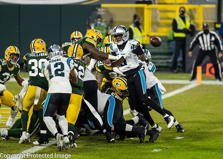 Green Bay Packers against the Carolina Panthers during a regular season game at Lambeau Field in Green Bay on Saturday, December 19, 2020.