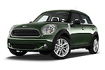 Stock pictures of low aggressive front three quarter view of 2016 MINI Countryman One 5 Door Hatchback Low Aggressive