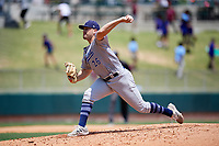 Pensacola Blue Wahoos relief pitcher Seth Varner (26) delivers a pitch during a game against the Birmingham Barons on May 9, 2018 at Regions Field in Birmingham, Alabama.  Birmingham defeated Pensacola 16-3.  (Mike Janes/Four Seam Images)