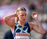 4th July 2021; Stockholm Olympic Stadium, Stockholm, Sweden; Diamond League Grand Prix Athletics, Bauhaus Gala; Keely Hodgkinson portrait before 800m race
