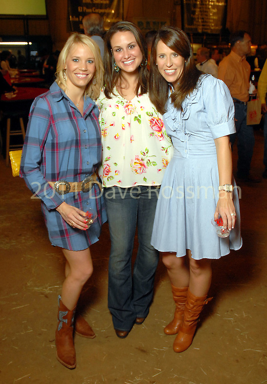 Christi Bennett, Kristen Stedham and Courtney Hodge at the annual Cattle Barron's Ball at the George Ranch Saturday April 25,2009.(Dave Rossman/For the Chronicle)