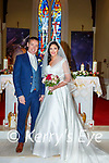 Marcella O'Connor, daughter of Denis & the Late Marie O'Connor, Kinnard, Ballinskelligs and Kieran Sugrue son of Phil & John, Claghanelinehan, Cahersiveenwho were married on Tuesday 29th Dec in St. Michael The Archangel's Church, Dungeagan, Ballinskelligs.  Fr Patsy Lynch officiated at the ceremony.  Bridesmaid was Assumpta O'Sullivan Short assisted by Fiona Moran, Katie Walshe and Fiona Cronin.  Best Man was Declan Sugrue Groomsmen were Sean Sugrue, Alan Sugrue and Stephen McCarthy.  The Flowergirls were Hannah Sugrue and Eugena McCarthy and Pageboy was Jamie John Sugrue. The reception was held in The Royal Hotel on Valentia Island and the couple will reside in Ballinskelligs.