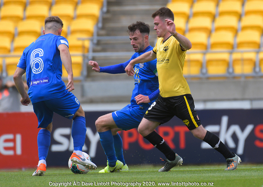 Action from the ISPS Handa Premiership football match between Wellington Phoenix Reserves and Southern United at Sky Stadium in Wellington, New Zealand on Saturday, 11 January 2020. Photo: Dave Lintott / lintottphoto.co.nz