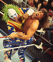 Marty Janette  & Donk the Clown 1991<br /> Photo By John Barrett/PHOTOlink