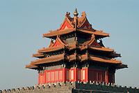 China, Kaiserpalast von Peking, Nord-Wesr-Turm der Mauer, Unesco-Weltkulturerbe