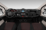 Stock photo of straight dashboard view of 2017 Peugeot Boxer l2h2-extended 4 Door Combi Dashboard