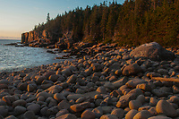 Sunrise at Otter Cliffs in  Acadia National Park in  Maine