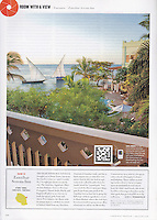 """Condé Nast Traveler (U.S. edition), August 2010, """"Room with a View"""" feature.<br /> <br /> Displayed for photographer's portfolio purposes only."""