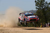 4th June 2021; Alghero, Sardinia; WRC rally of Italia Sardinia, stages  1-8;  Pi Louis Loubet-Hyundai i20 WRC