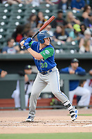 Designated hitter Nick Hutchins (30) of the Lexington Legends bats in a game against Columbia Fireflies on Thursday, June 13, 2019, at Segra Park in Columbia, South Carolina. Lexington won, 10-5. (Tom Priddy/Four Seam Images)