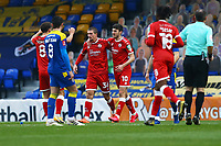 Max Watters (36) of Crawley Town scores the second goal for his team and celebrates during AFC Wimbledon vs Crawley Town, Emirates FA Cup Football at Plough Lane on 29th November 2020