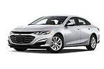 Stock pictures of low aggressive front three quarter view of a 2020 Chevrolet Malibu LT 4 Door Sedan