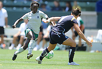 Saint Louis Athletica (9) Eniola Aluko during a game against the Los Angeles Sol  in the second half of a game at the Home Depot Center in Carson, CA on Wednesday, July 9, 2009..