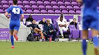 Orlando, Florida - Saturday January 13, 2018: Adrian Solca and Bo Oshoniyi coach Team X. Match Day 1 of the 2018 adidas MLS Player Combine was held Orlando City Stadium.