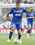 Juventus' Carlos Tevez during Champions League 2014/2015 Semi-finals 2nd leg match.May 13,2015. (ALTERPHOTOS/Acero)