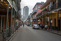French Quarter, New Orleans, Louisiana.  Royal Street View, near Corner of St. Peter's St.