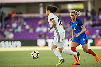 Orlando City, FL - Wednesday March 07, 2018: Dzsenifer Marozsan during a 2018 SheBelieves Cup match between the women's national teams of Germany (GER) and France (FRA) at Orlando City Stadium.