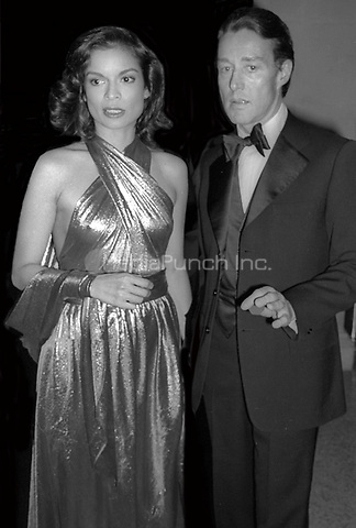 Bianca Jagger and Halston 1977<br /> Photo By Adam Scull/PHOTOlink/MediaPunch