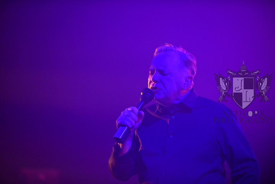 MIAMI BEACH, FLORIDA - JANUARY 18: Bernard Sumner, of New Order perform on stage at the Fillmore Miami Beach at the Jackie Gleason Theater on January 18, 2020 in Miami Beach, Florida.  ( Photo by Johnny Louis / jlnphotography.com )