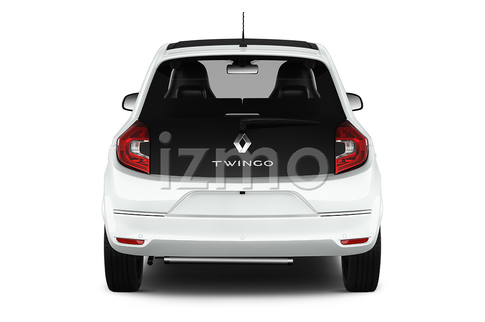 Straight rear view of a 2019 Renault Twingo Edition One + 5 Door Hatchback stock images
