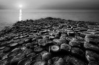 Rock formations. Giants Causway.  Nortnern Ireland