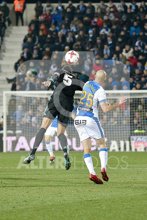 Leganes Nordin Amrabat vs Real Madrid Raphael Varane  during Copa del Rey  match. A quarter of final go. 20180118.