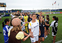LA Sol Captain Shannon Boxx (7) enters the field with the rest of the team. The Los Angeles Sol defeated the Washington Freedom 1-0 at the Maryland SoccerPlex in Boyds, MD on Sunday July 5, 2009.