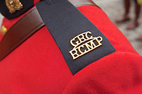 GRC RCMP Police badge is seen during a police memorial parade in Ottawa Sunday September 26, 2010.