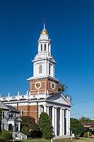 Fist Congregational Church, Danbury, Connecticut, USA.