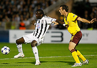 Fudbal, Champions league,Group H season 2010/2011.Partizan Vs. Arsenal.Pierre Boya, left and Sebastien Squillaci.Beograd, 29.09.2010..foto: Srdjan Stevanovic/Starsportphoto ©