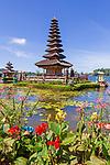 Ulun Danu Temple at Beratan Lake, Temple on the lake, Bedugul - Bali, Indonesia