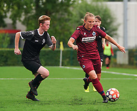 20200723, BEVEREN ,  BELGIUM : Brugge's Elle Decorte (right) pictured during a friendly soccer game between Bosdam Beveren and Club Brugge YLA Dames  in the preparations for the coming season 2020 - 2021 of Belgian Women's SuperLeague ,23 th of July 2020  in Beveren , Belgium . PHOTO SPORTPIX.BE | SEVIL OKTEM