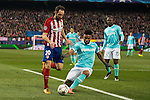 Atletico de Madrid's Juanfran Torres and PSV Eindhoven's Florian Jozefzoon during UEFA Champions League match. March 15,2016. (ALTERPHOTOS/Borja B.Hojas)