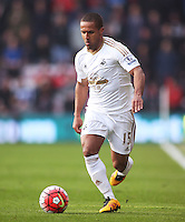 Wayne Routledge of Swansea City during the Barclays Premier League match between AFC Bournemouth and Swansea City played at The Vitality Stadium, Bournemouth on March 12th 2016