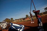 Runners cools down after morning training in Iten, Kenya