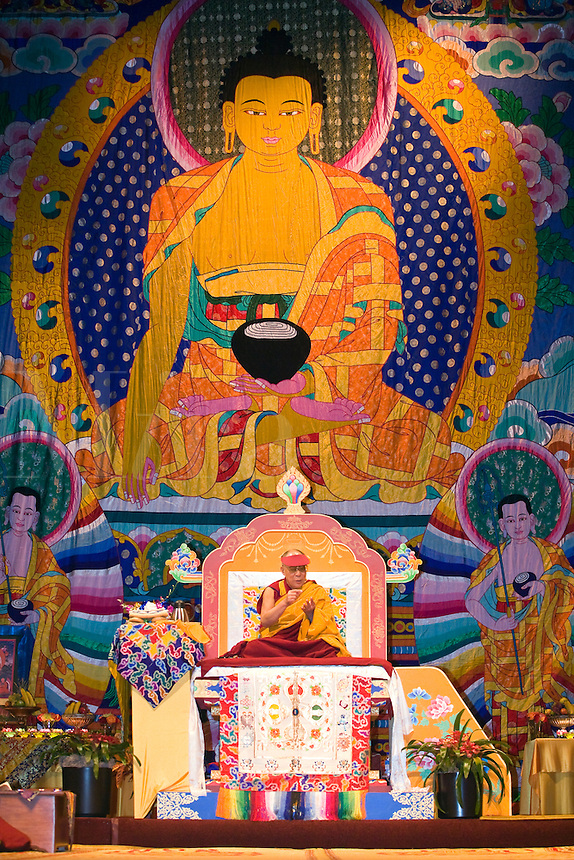 The14th DALAI LAMA teaches ATISHAS LAMP FOR THE PATH TO ENLIGHTENMENT in October 2007 sponsored by KUMBUM CHAMTSE LING & the TIBETAN CULTURAL CENTER,  BLOOMINGTON, INDIANA