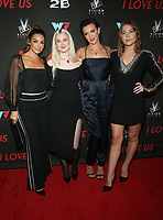 WEST HOLLYWOOD, CA - SEPTEMBER 13: Courtney Lopez, Harlow Jane, Katie Cassidy and Jasper Polish at the LA Premiere Screening Of I Love Us at Harmony Gold in West Hollywood, California on September 13, 2021. Credit: Faye Sadou/MediaPunch