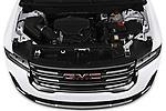 Car stock 2020 GMC Acadia AT4 5 Door SUV engine high angle detail view