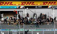 27th August 2020, Spa Francorhamps, Belgium, F1  Grand Prix of Belgium, Mechanic of Mercedes-AMG Petronas Formula One Team during pitstop practice