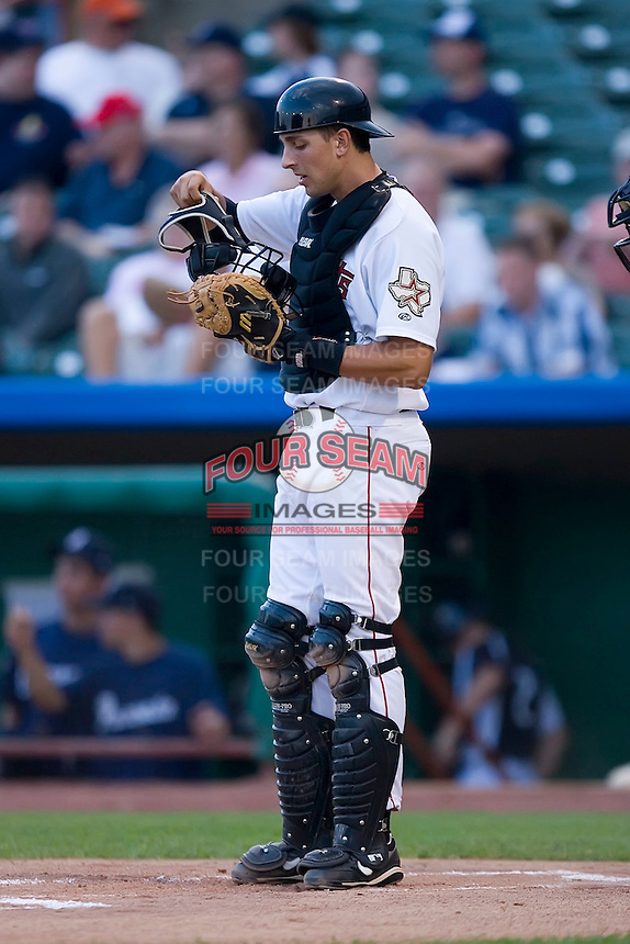 Jason Castro (23) of the Tri-City Valley Cats at Joe Bruno Stadium in Troy, NY, Monday July 28, 2008.  Castro was selected in the 1st round (10th overall) of the 2008 First Year Player Draft by the Houston Astros.  (Photo by Brian Westerholt / Four Seam Images)