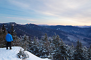 Scenic view from the summit of Mount Tecumseh in Waterville Valley, New Hampshire during the winter months. This view came at a price, read more here: http://bit.ly/19xaon8