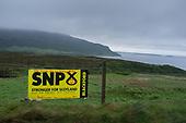 SNP election placard, Stein, Waternish, Skye.