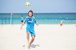 Shunta Suzuki (JPN),<br /> APRIL 20, 2014 - Beach Soccer :<br /> Beach Soccer Japan national team candidates training camp in Okinawa, Japan. (Photo by Wataru Kohayakawa/AFLO)