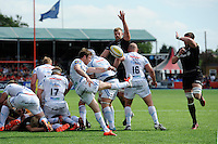 Will Chudley of Exeter Chiefs clears his line as Exeter defend passionately in the final minutes