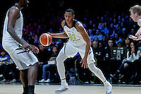 July 14, 2016: STEPHEN DOMINGO (31) of the California Golden Bears controls the ball during game 2 of the Australian Boomers Farewell Series between the Australian Boomers and the American PAC-12 All-Stars at Hisense Arena in Melbourne, Australia. Sydney Low/AsteriskImages.com