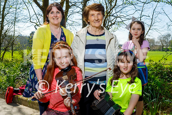 Attending the launch of Siamsa Tire's Litha (Summer Solstice) event which will be part of the Youth Arts Festival in the Europe Gardens in the Listowel town park on Friday. Front l to r: Grace and Mary Walsh Back l to r: Ann Marie Walsh, Jean McCarron and Sarah Walsh.
