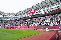 KASHIMA, JAPAN - JULY 27: Fans watching before a game between USWNT and Australia at Ibaraki Kashima Stadium on July 27, 2021 in Kashima, Japan.