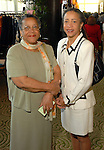 Constance Jackson and Linda Houston at the Ivy Foundation luncheon and fashion show at the Hilton Americas Hotel downtown Saturday March 01,2008.(Dave Rossman/For the Chronicle)